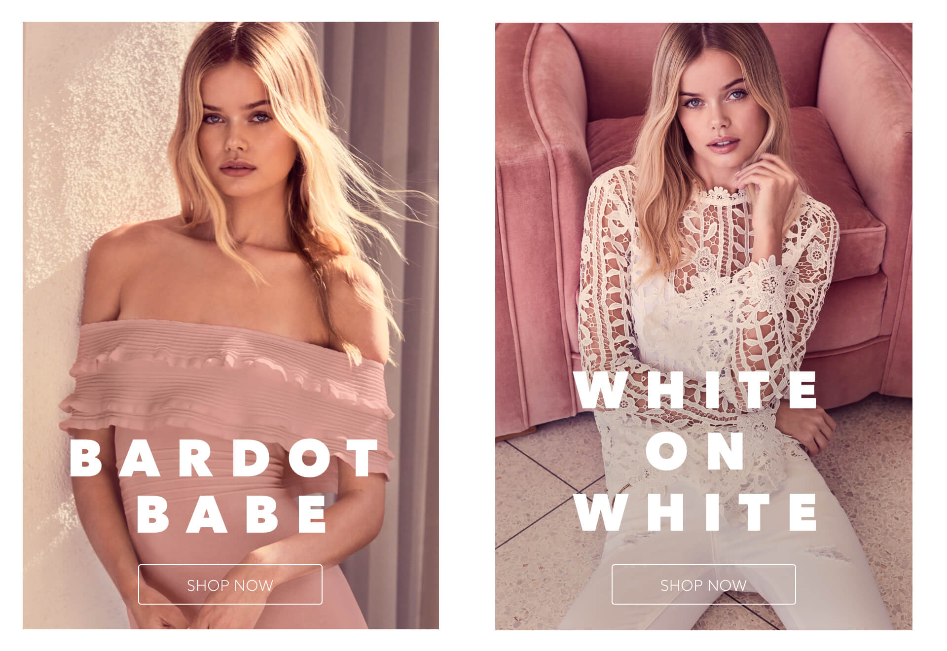 Bardot & WHITE ON WHITE