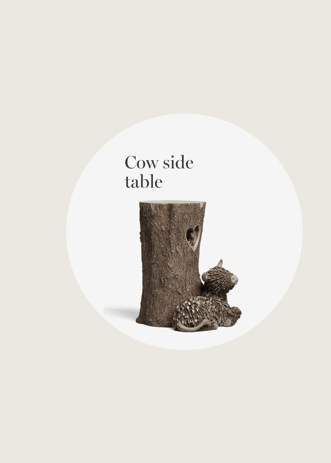 Cow side table