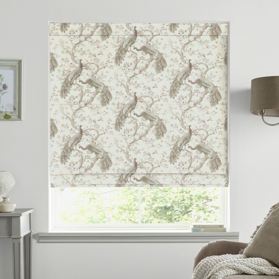 Belvedere Soft Truffle Made to Measure Roman Blind