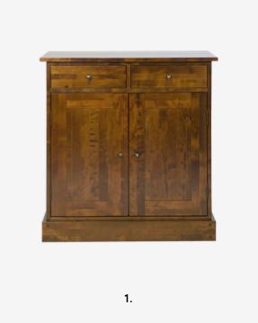 Garrat Dark Chestnut 2 Door 2 Drawer Narrow Sideboard