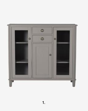 Henshaw Pale Charcoal 3 Door Low Display Unit
