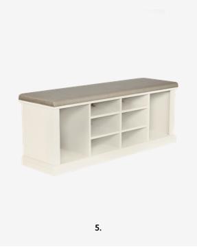 Dorset White Shoe Storage Bench