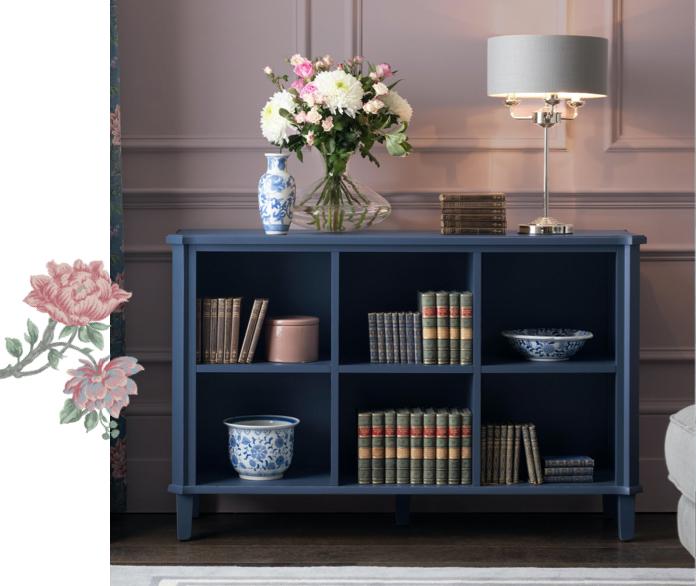 Henshaw Dusky Seaspray Low Bookcase