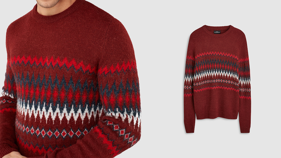 Next red patterned jumper