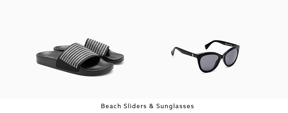 Beach Sliders & Sunglasses