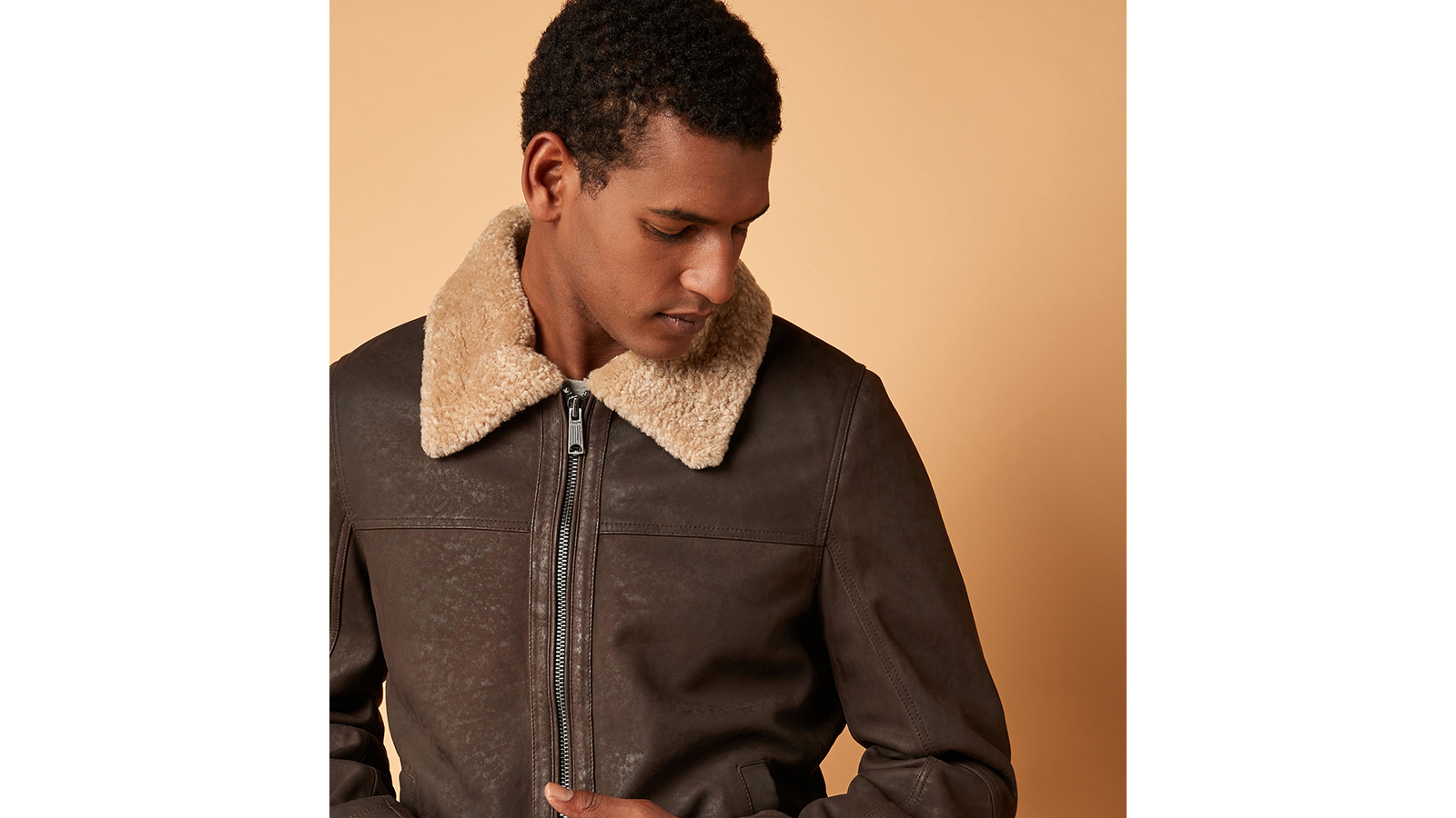 Next Mens shearling jacket