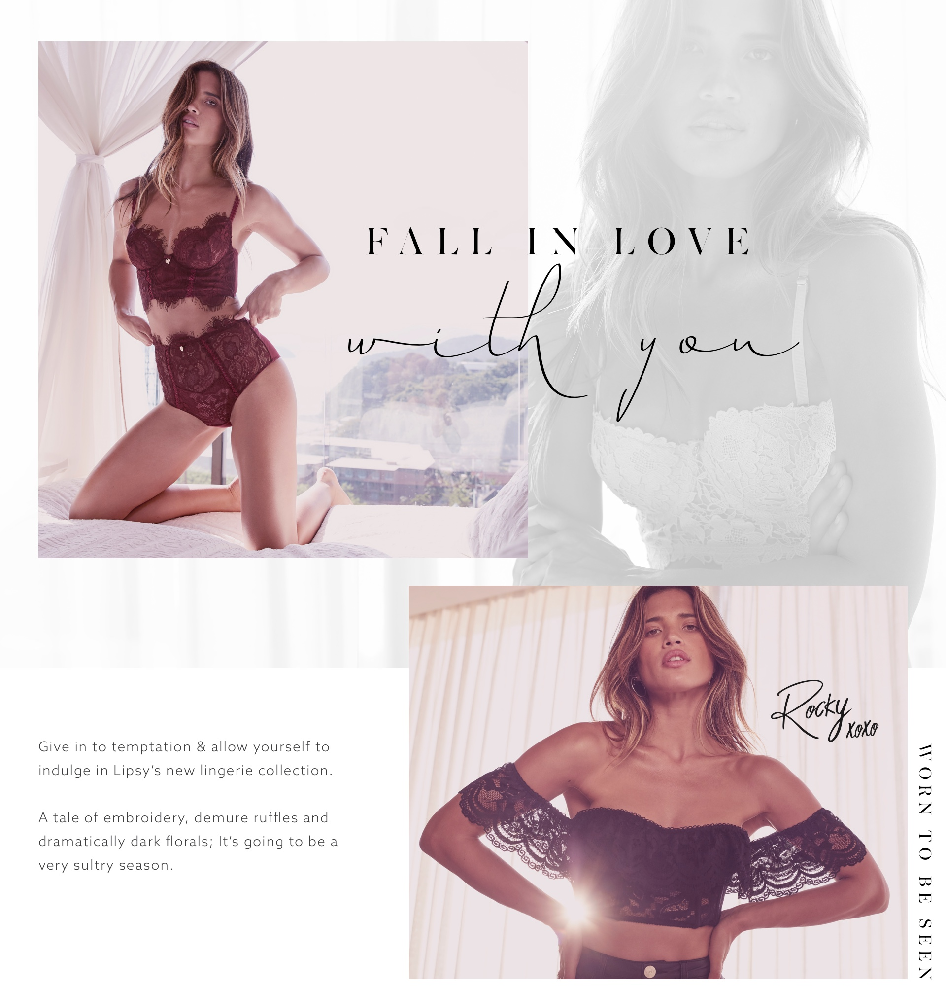 Fall in love with you - new lingerie collection