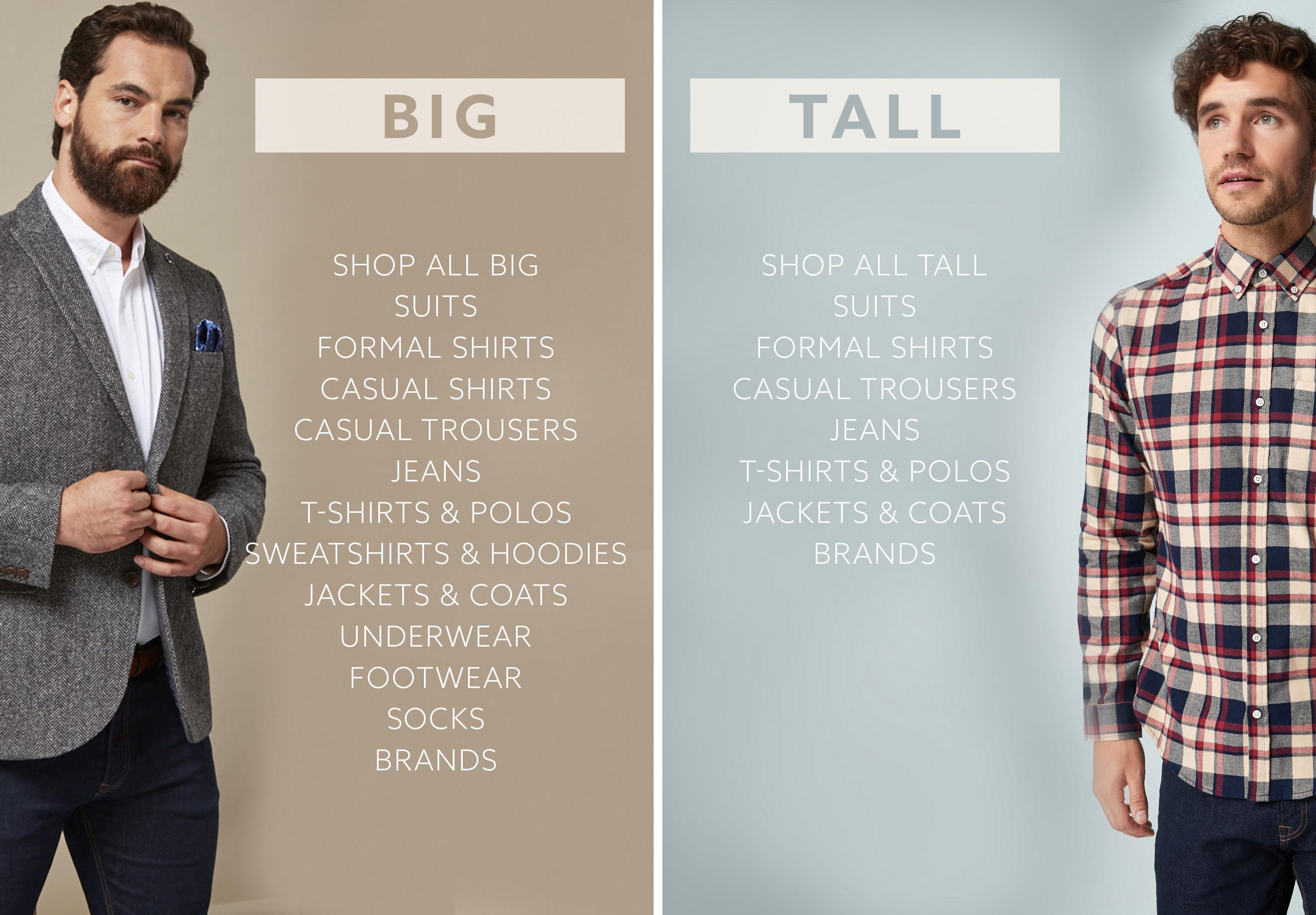 aec9b77d17 Big   Tall Clothing