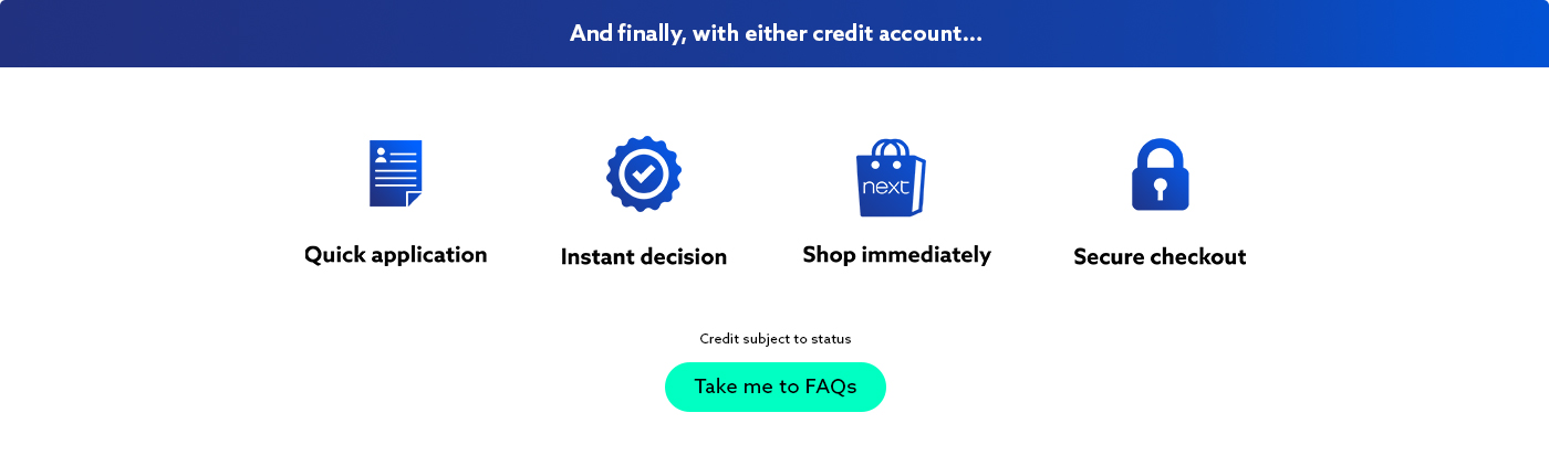 Next Credit Options | Credit Accounts for Fashion & Homeware